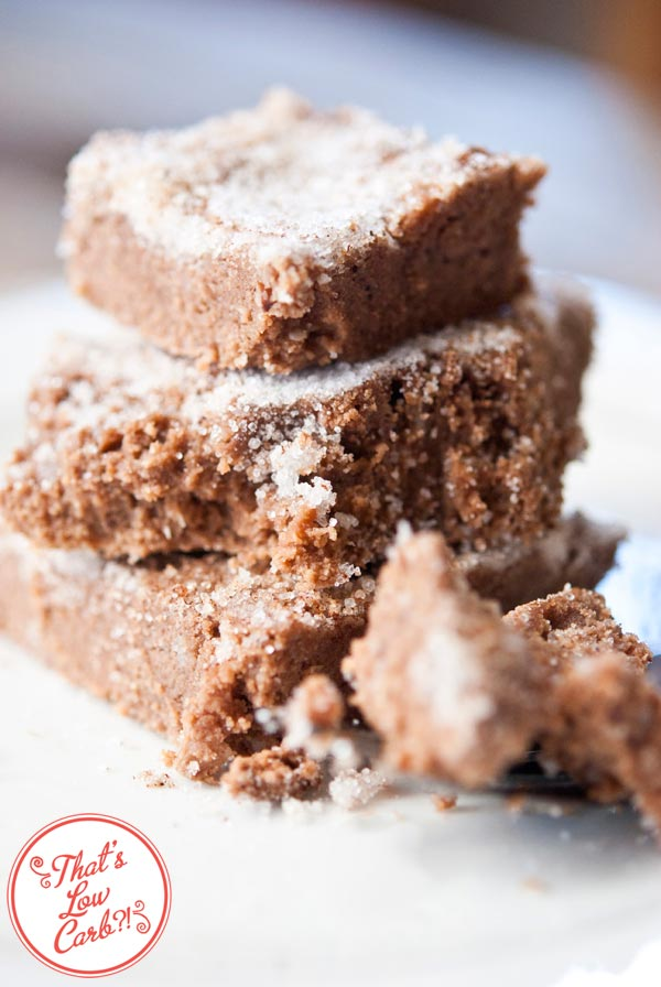 Low Carb Brownie Cake With Cinnamon Candy Crunch Topping Recipe