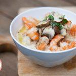 Low Carb Creamy Garlic Mushroom Shrimp Recipe