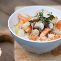 Low Carb Creamy Garlic Mushroom Shrimp Recipe