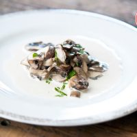 Low Carb Garlic Mushrooms And Cream Recipe