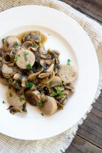 Low Carb Sausage And Mushrooms Recipe