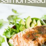 Salmon on a Salad with Balsamic and avocado
