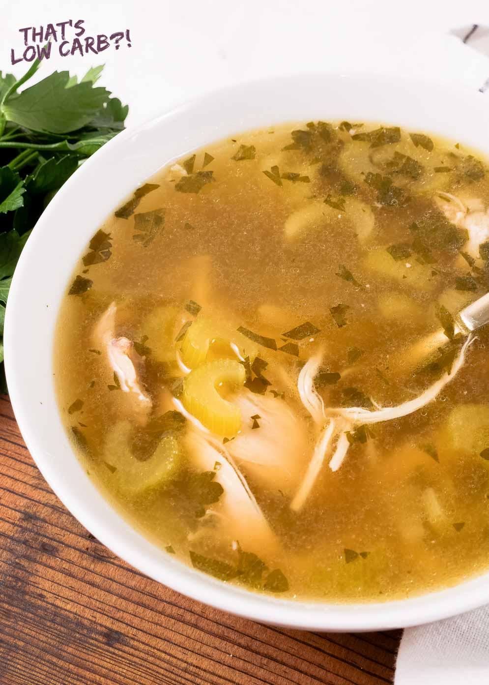 Keto Chicken Soup Recipe (Instant Pot Recipe)
