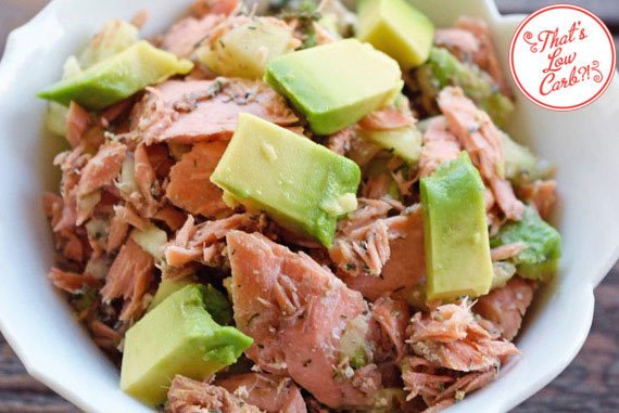 Low Carb Balsamic Salmon Salad Recipe