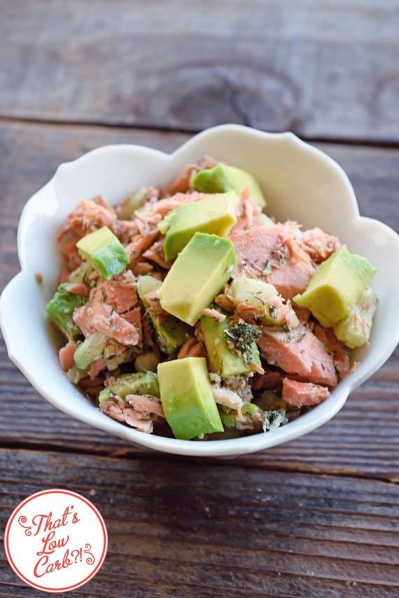 Low Carb Balsamic Salmon Salad Recipe