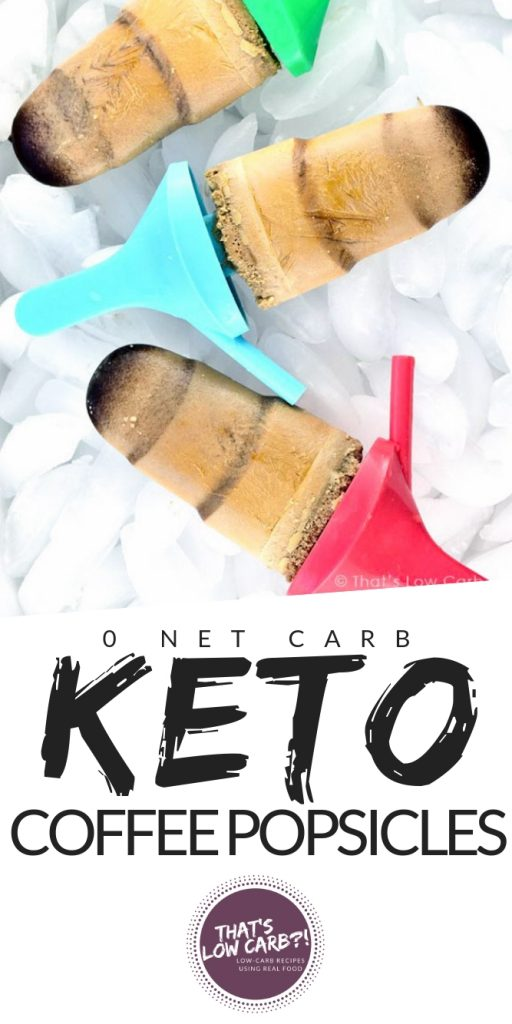 Keto Coffee Popsicles Recipe | Low Carb Recipes by That's Low Carb?!