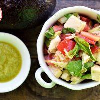 Low Carb Chicken Tomato and Avocado Salad Recipe