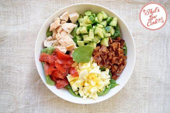 Low Carb Spinach Cobb Salad Recipe