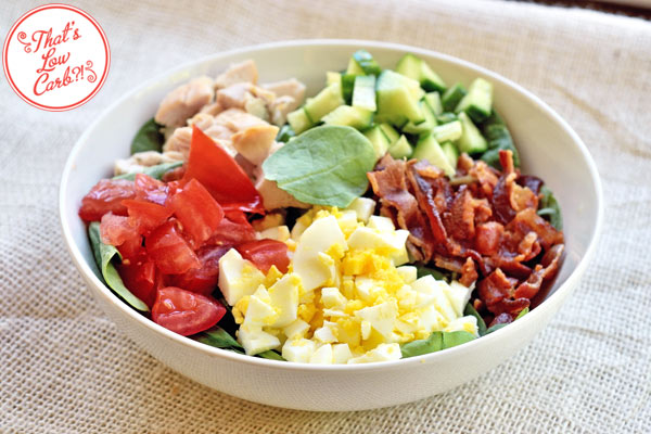 Low Carb Spinach Cobb Salad Recipe