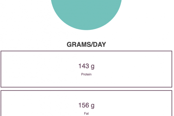 Image of macro pie chart and example numbers for each category.