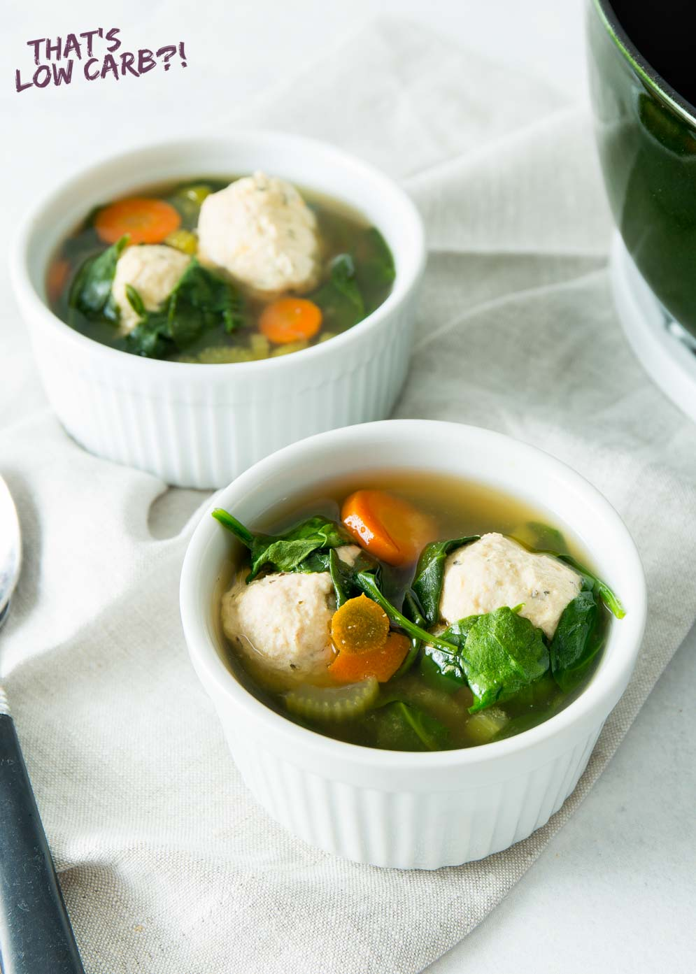 Italian Wedding Soup that is naturally low carb