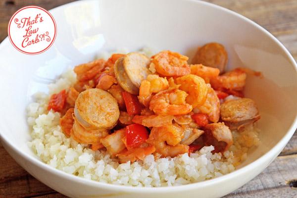 Low Carb Shrimp Jambalaya Recipe - That's Low Carb?!