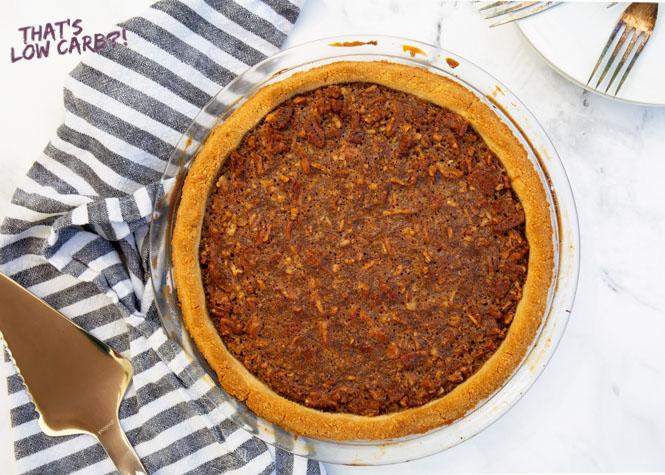Full Pie of Keto Pecan Pie
