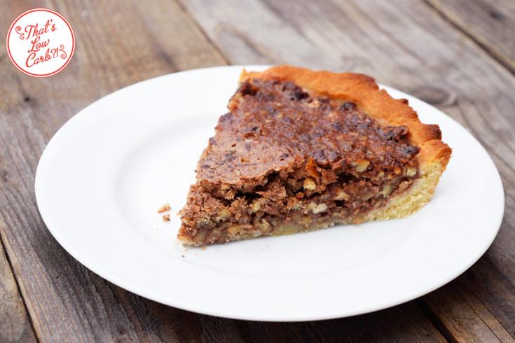 Low Carb Pecan Pie Recipe Plated