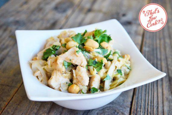 Low Carb Thai Peanut Chicken & Cabbage Stir Fry Recipe