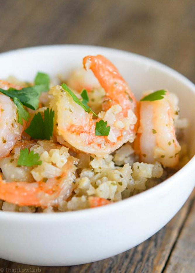 Low Carb Shrimp Recipe up close on shrimp