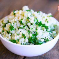 Low Carb Garlic & Herb Cauli-Rice Recipe