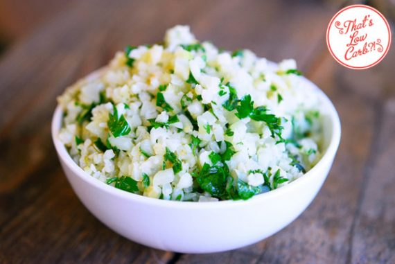Low Carb Garlic & Herb Cauliflower Rice Recipe