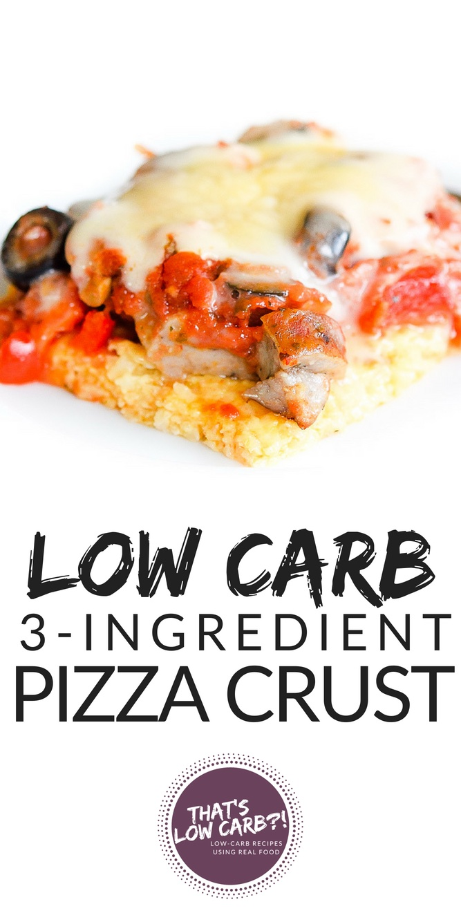 Low Carb Pizza Crust Recipe