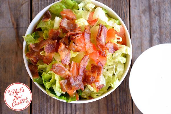 Low Carb (Keto) BLT Salad Recipe