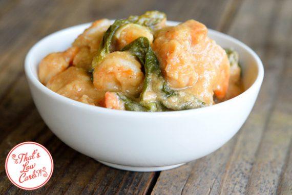 Low Carb (Keto) Shrimp Bok Choy with Peanut Sauce Recipe