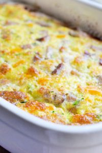 Low Carb Orange Pepper & Sausage Breakfast Casserole Recipe