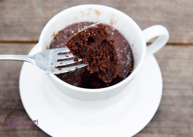 Low Carb Chocolate Mug Cake Recipe