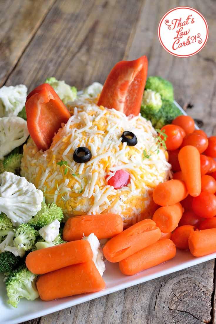 Low Carb Bunny Veggie Dip Recipe