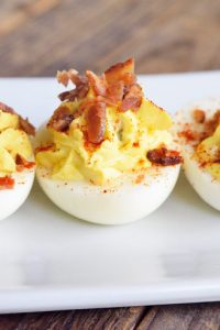 Low Carb Bacon Topped Deviled Eggs With Hungarian Paprika Recipe