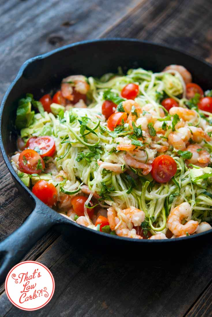 Low Carb Shrimp Zoodles Recipe