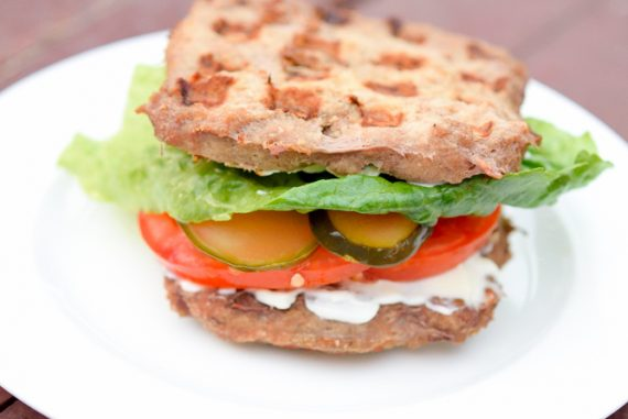 Low Carb Waffle Iron Burgers Recipe