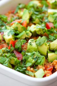 Low Carb Dairy Free Mexican Cauli-Rice Casserole Recipe