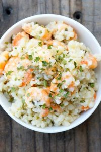 Low Carb Cauli-Rice Scampi Recipe