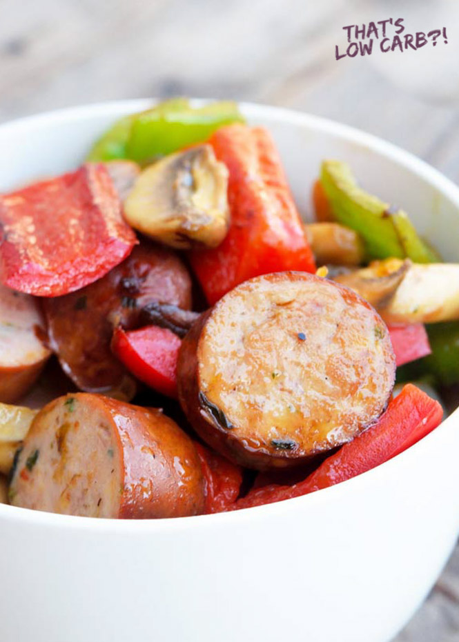 Sausage and Vegetable Skillet dinner