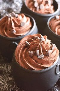 Low Carb Chocolate Cauldron Cupcakes Recipe