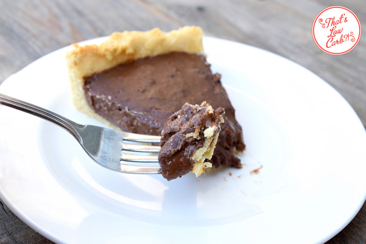 Low Carb Chocolate Pie Recipe Sliced