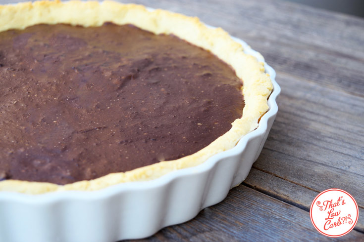 Low Carb Chocolate Pie Recipe Ready To Slice