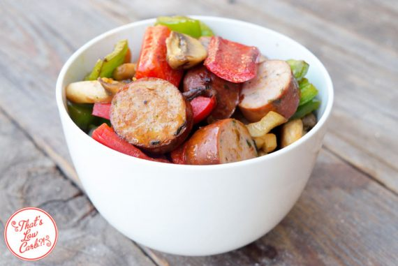 Low Carb Sausage And Vegetable Skillet Recipe