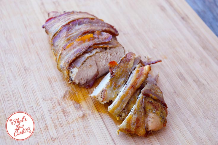 Low Carb Bacon Wrapped Turkey Breast Recipe Ready To Serve