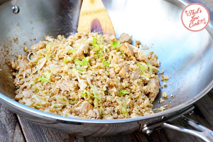 Low Carb Chinese Chicken Fried Rice Recipe In Wok