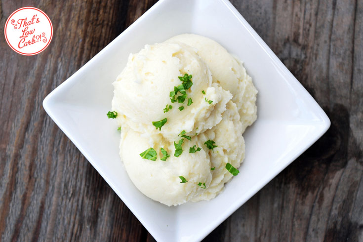 Low Carb Mashed Cauliflower Recipe On Table