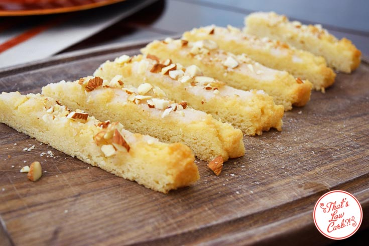 Low Carb Orange Almond Cake Bars Recipe Served