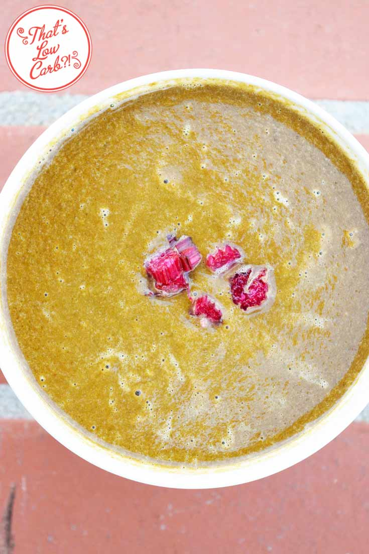 Low Carb Balsamic Chard Soup Recipe Served