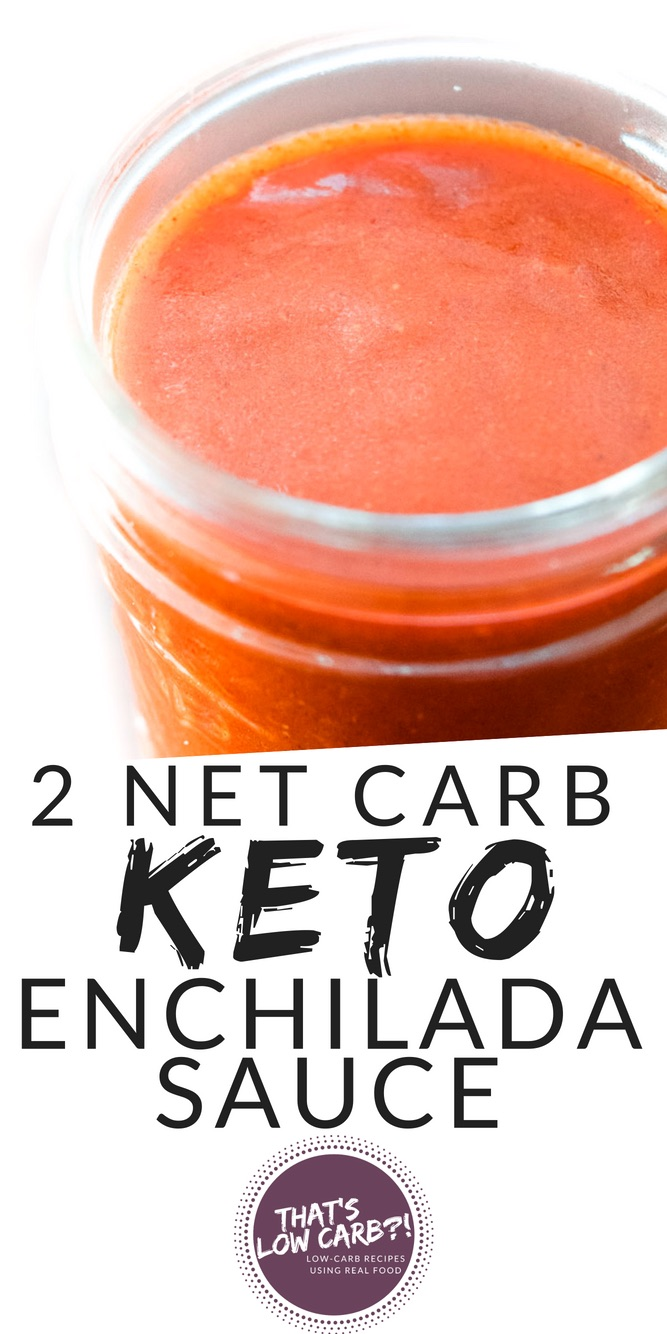 Low Carb Enchilada Sauce Recipe