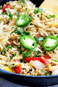 Low Carb Jalapeno Pepper Chicken Skillet Recipe
