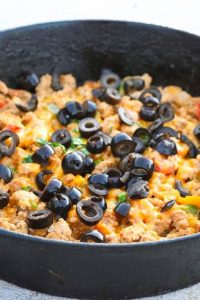 Low Carb Southwestern Turkey Skillet Recipe