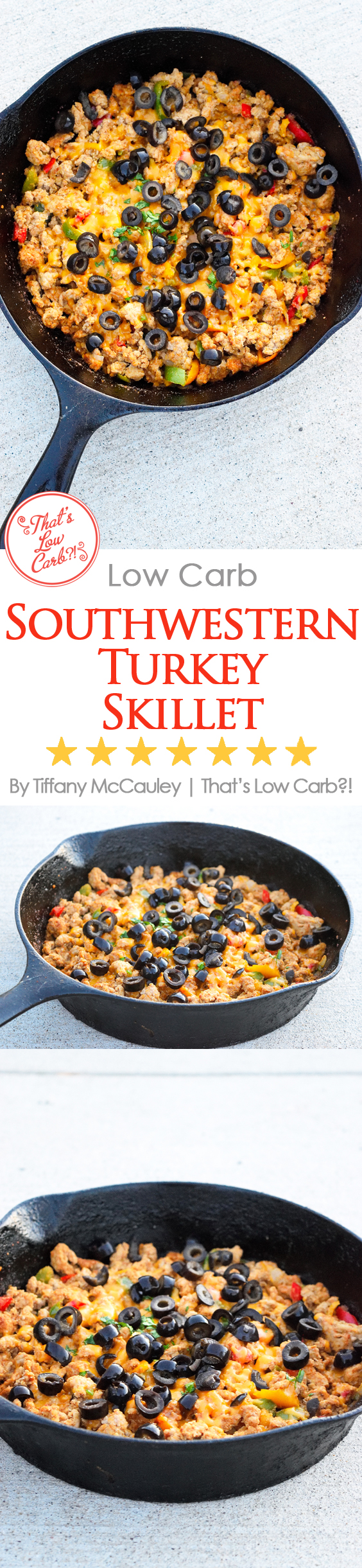 Low Carb Southwestern Turkey Skillet Recipe
