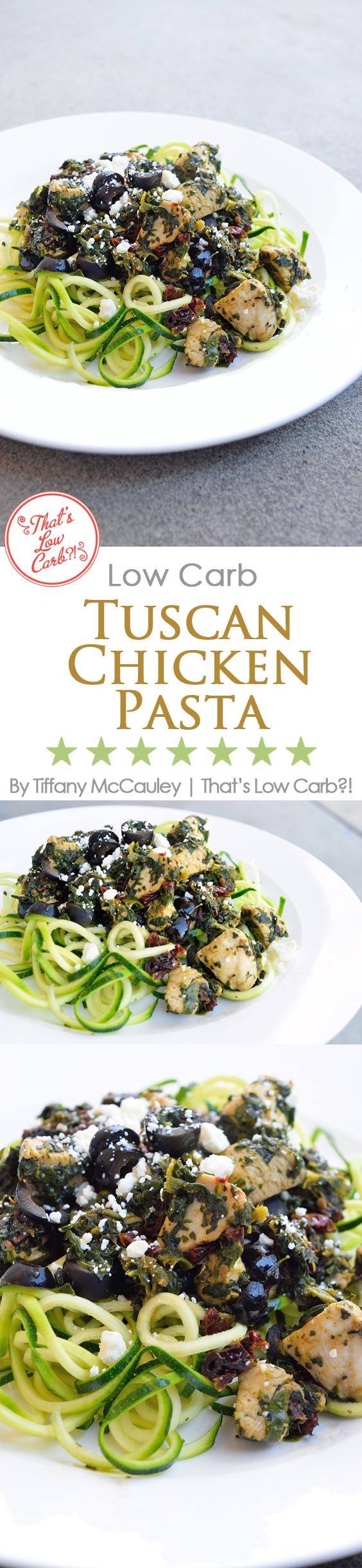 Low Carb Tuscan Chicken Pasta Recipe