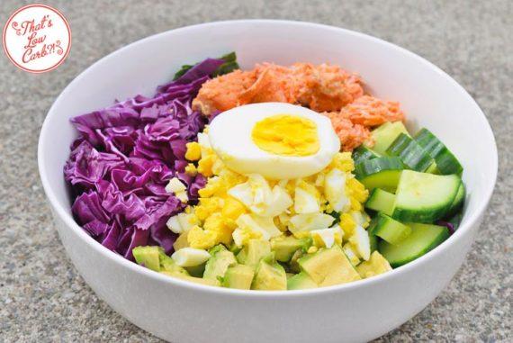 Low Carb Salmon Buddha Bowl Recipe