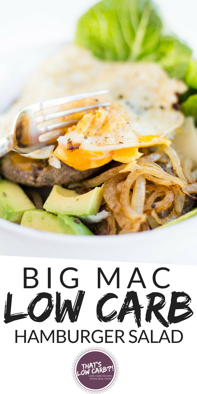 Big Mac Salad Recipe (Low Carb Hamburger Salad)
